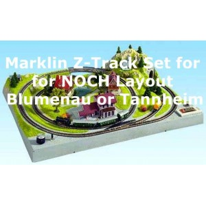 Track-Set for NOCH Z Scale Layout Blumenau and Tannheim