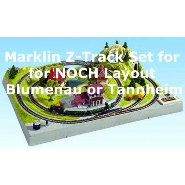 Track Set For Noch Z Scale Layout Blumenau And Tannheim