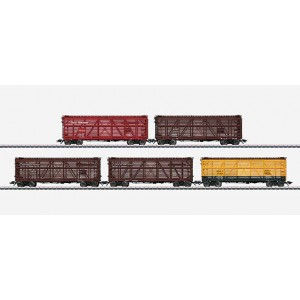 45655 Marklin HO US Set with 5 Stock Cars