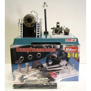 WILESCO D18 NEW TOY STEAM ENGINE WITH DYNAMO + LAMP