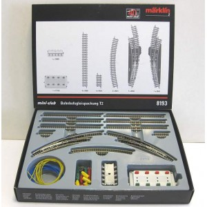 8193 MARKLIN Z TRACK STATION EXTENSION SET T2 with curved  turnouts