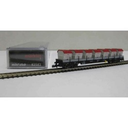 82582 Marklin Z Flat Car (DB AG) type Res 687