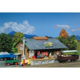120248 Faller HO Kit of a Goods Shed, Patinated model