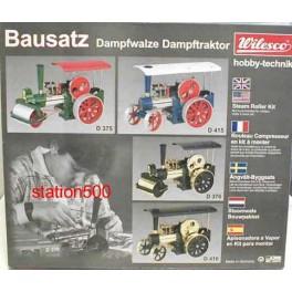 WILESCO D376 BRASS BLACK STEAM ENGINE KIT OF STEAM ROLLER D366