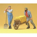 Preiser 45020 1:22.5 G Scale LGB Gauge Workers, with wheel barrow