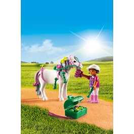 PLAYMOBIL® 6969 Groomer with Heart Pony - S&H FREE