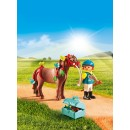 PLAYMOBIL® 6971 Groomer with Butterfly Pony - S&H FREE