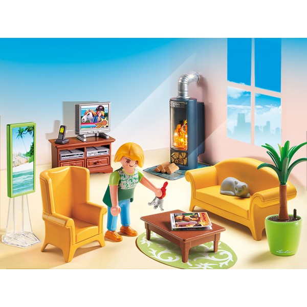 playmobil living room playmobil 174 5308 living room with fireplace s amp h free 11070