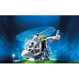 PLAYMOBIL® 6874 Police Helicopter w LED Searchlight - S&H FREE