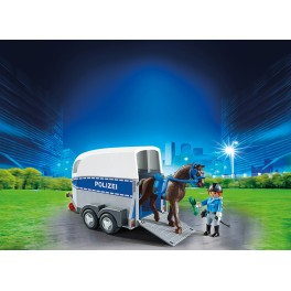PLAYMOBIL® 6875 Mounted Police with Trailer - S&H FREE