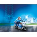 PLAYMOBIL® 6876 German Police Motorcycle with Flashing Light - S&H FREE