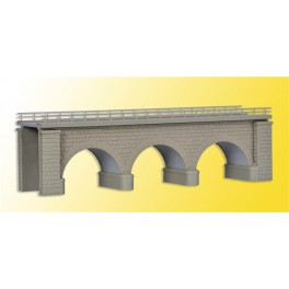 37660 Kibri N + Z Kit of Erzberg bridge with ice breaking pillars, single track