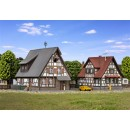 36406 Kibri Z Gauge Kit of two Half-timbered houses, 2 pieces