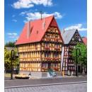 36407 Kibri Z Gauge Kit of a House at church square Alsfeld