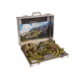 NOCH 88310 Z Scale Briefcase Layout Serfaus Marklin Z tracks 58 x 43 x 16 cm