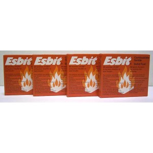 4 Boxes Esbit Solid Fuel Tabs (80 tabs)